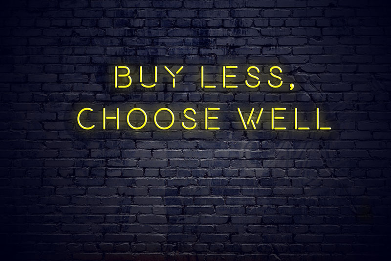 reduce carbon footprint buy less