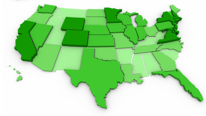 most environmentally friendly states