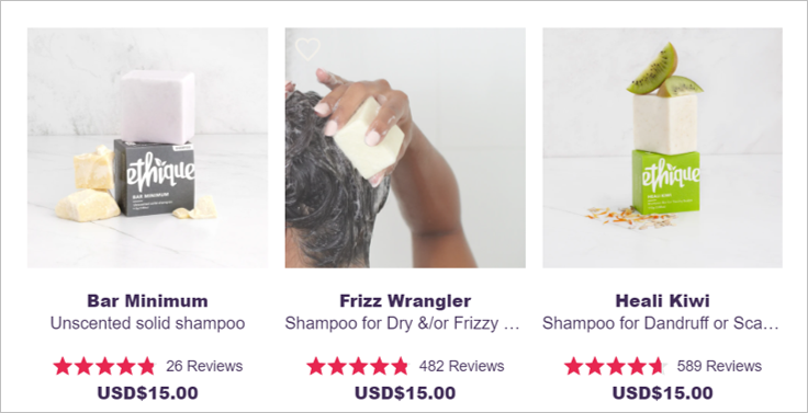 ethique shampoo