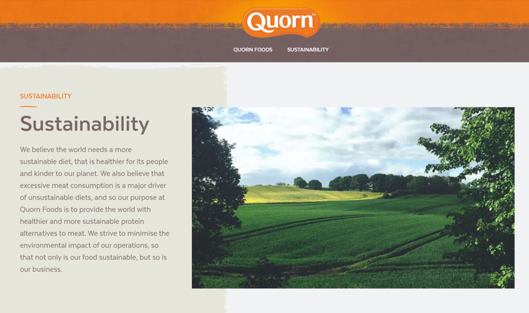 quorn environmentally friendly company