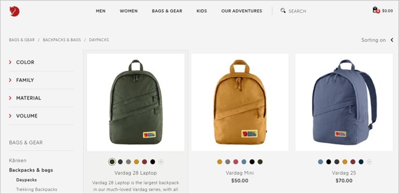 fjallraven eco friendly backpacks
