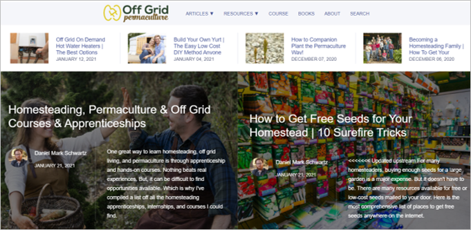 off grid permaculture