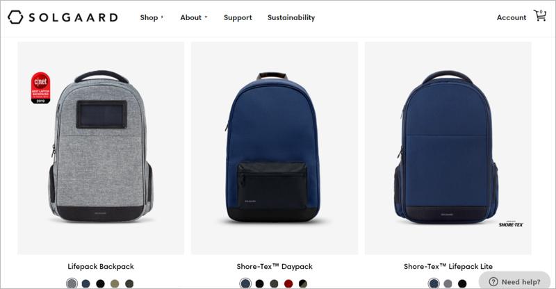 solgaard eco friendly backpacks
