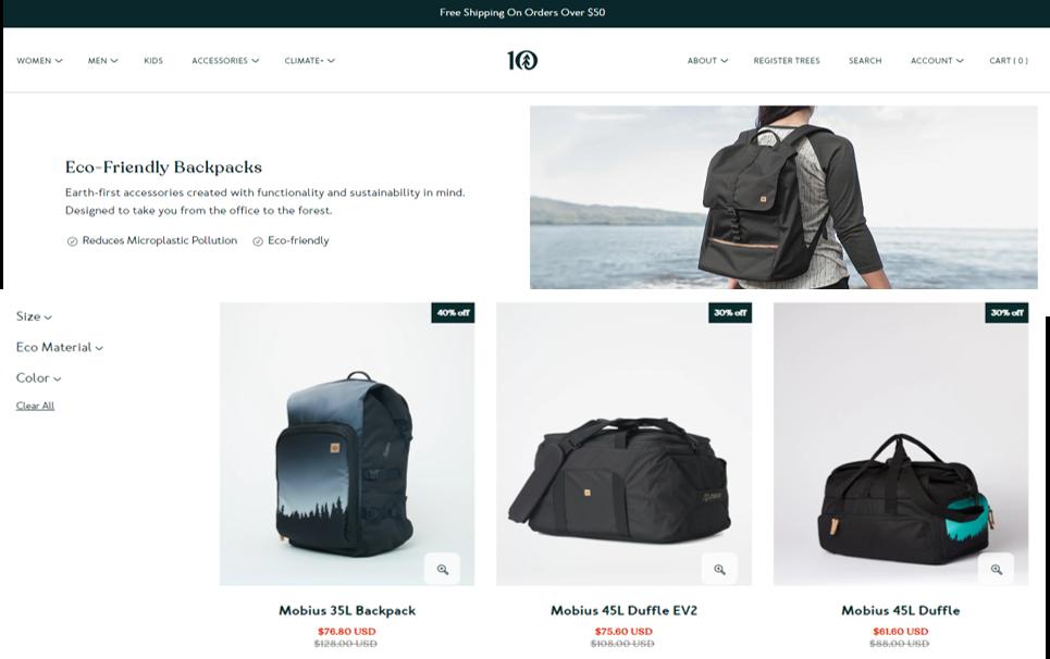 tentree eco friendly backpacks3