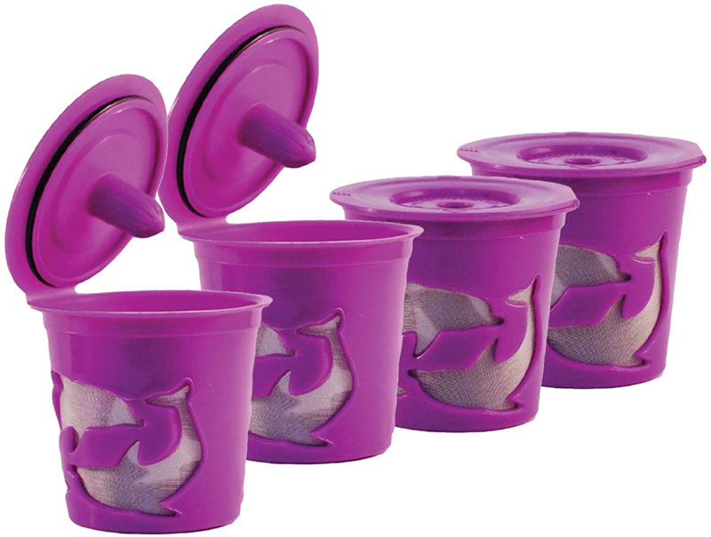 4 Refillable-Reusable Cups Compatible With Keurig 2.0