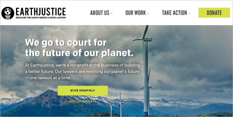 best environmental charities earth justice