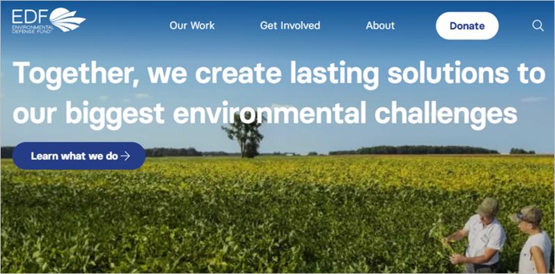 best environmental charities edf