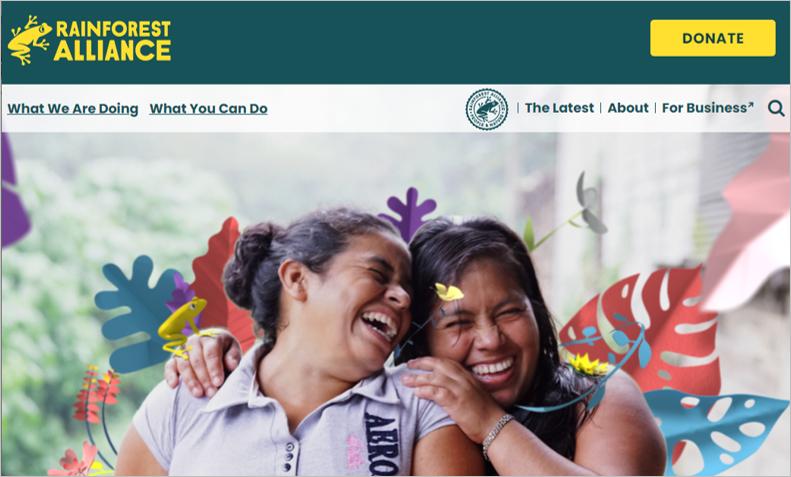 best environmental charities rainforest alliance