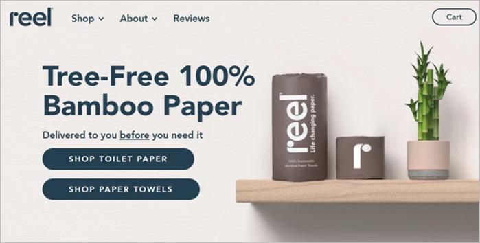 reel sustainable toilet paper