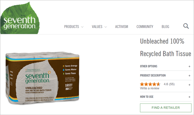 seventh generation sustainable toilet paper