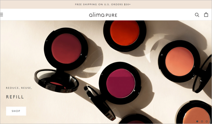 alima pure zero waste makeup