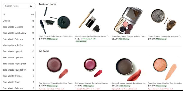 clean faced costmetics zero waste makeup