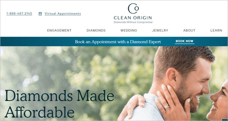 clean origin sustainable engagement rings