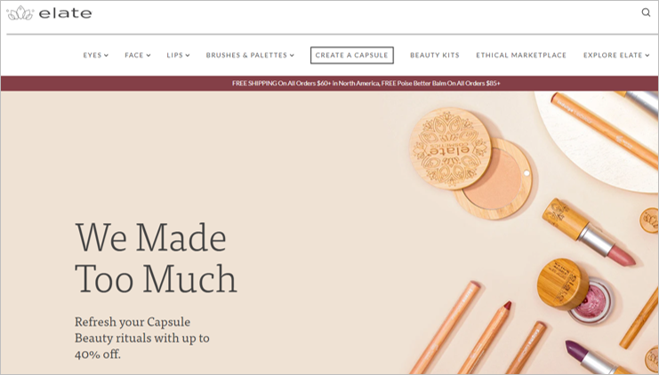 elate zero waste makeup