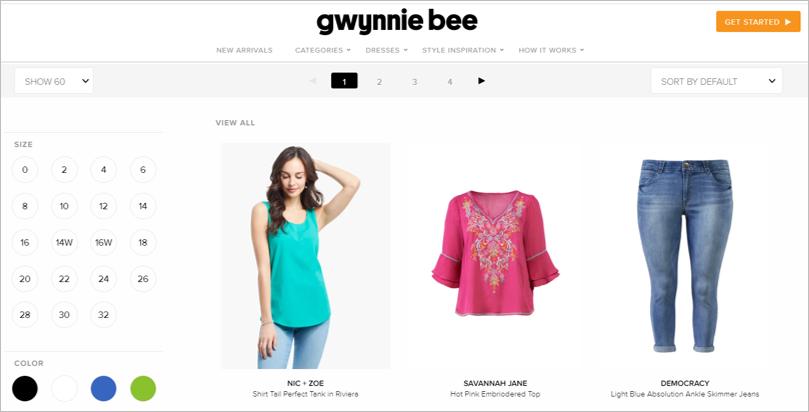 gwynnie bee sustainable clothing rental