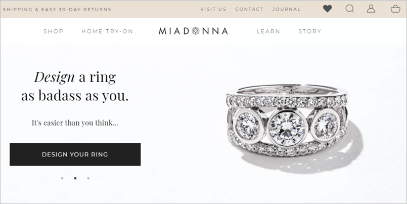 miadonna sustainable engagement rings