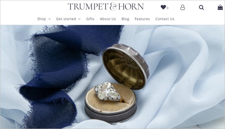 trumpet horn sustainable engagement rings
