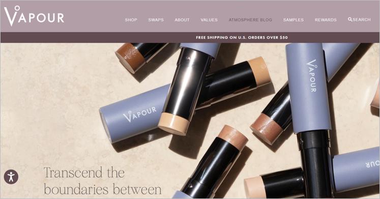 vapour zero waste makeup