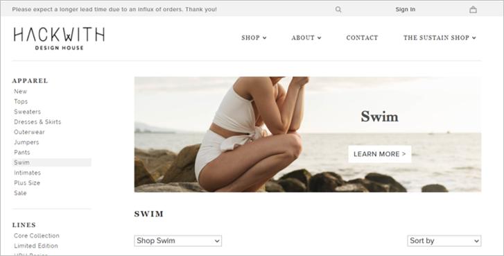 hackwith sustainable swimwear