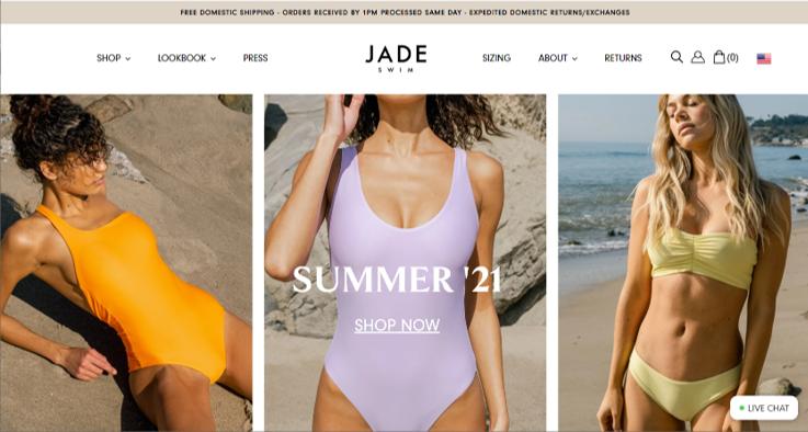 jade swim sustainable swimwear
