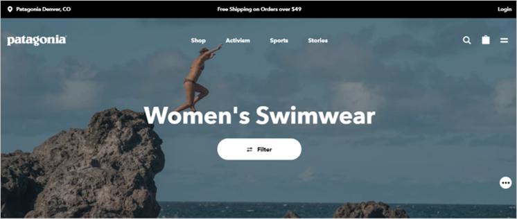 patagonia sustainable swimwear