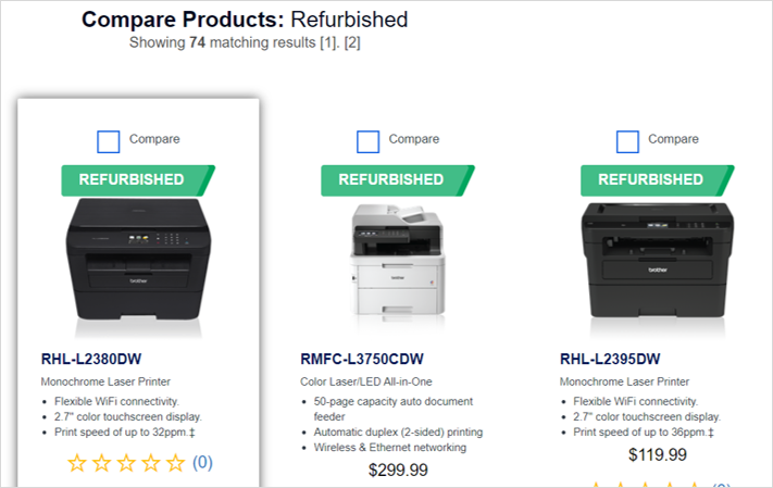 brother refurbished printers sustainable office supplies