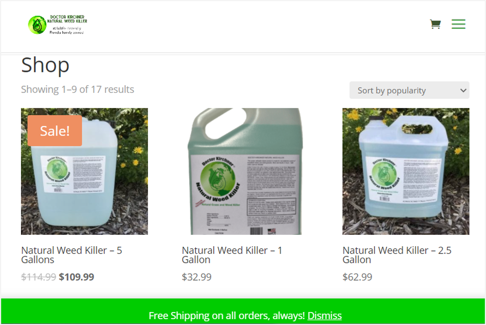 doctor kirchner non-toxic weed killers