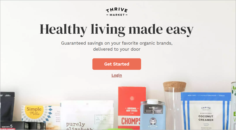 thrive market environmentally friendly meal delivery