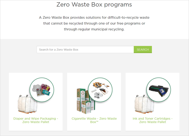 zero waste box programs sustainable office supplies