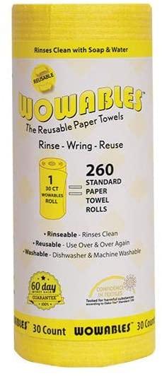 wowables reusable biodegradable paper towel